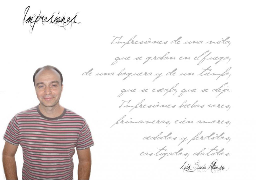 """Luis Garcia Alonso Luis GarcÍa Alonso Luis García Alonso: """"Para mí la poesía es una especie de diálogo entre el mundo interior y el que nos rodea, que nos permite conocernos mejor como personas"""". Fichaautor"""