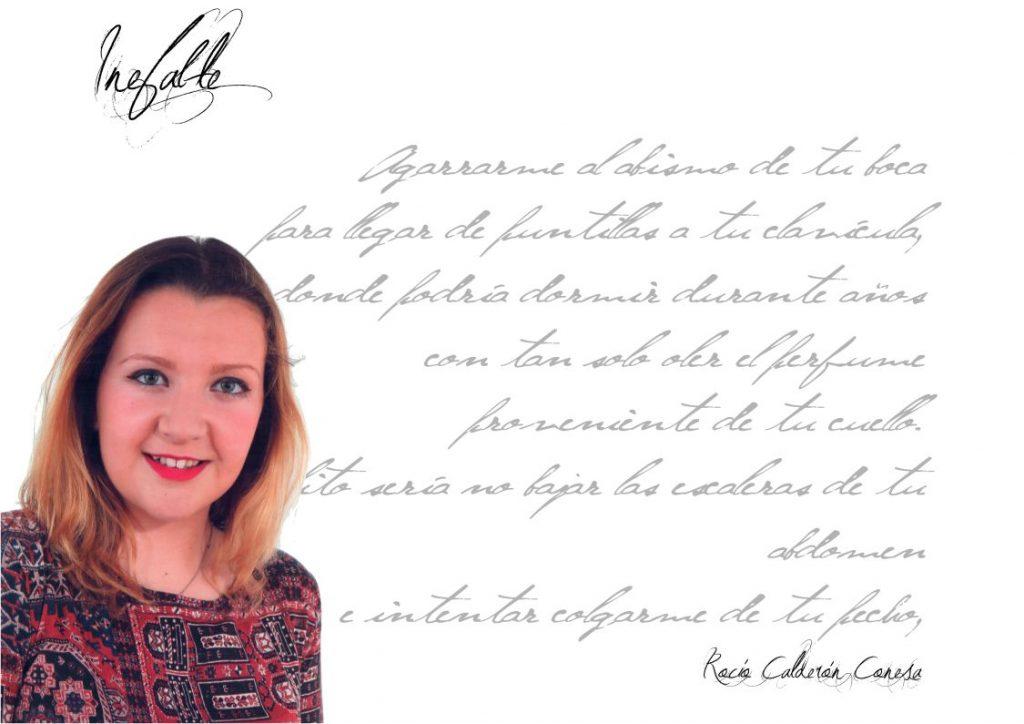 """Entrevista Rocío Calderón Conesa - Inefable Rocío Calderón Conesa Rocío Calderón Conesa: """"…a veces comparo mucho la poesía con el piano o el violín, veo ambos instrumentos igual de indispensables para la armonización de la vida que una buena poesía"""". FichaRocioCalderon"""